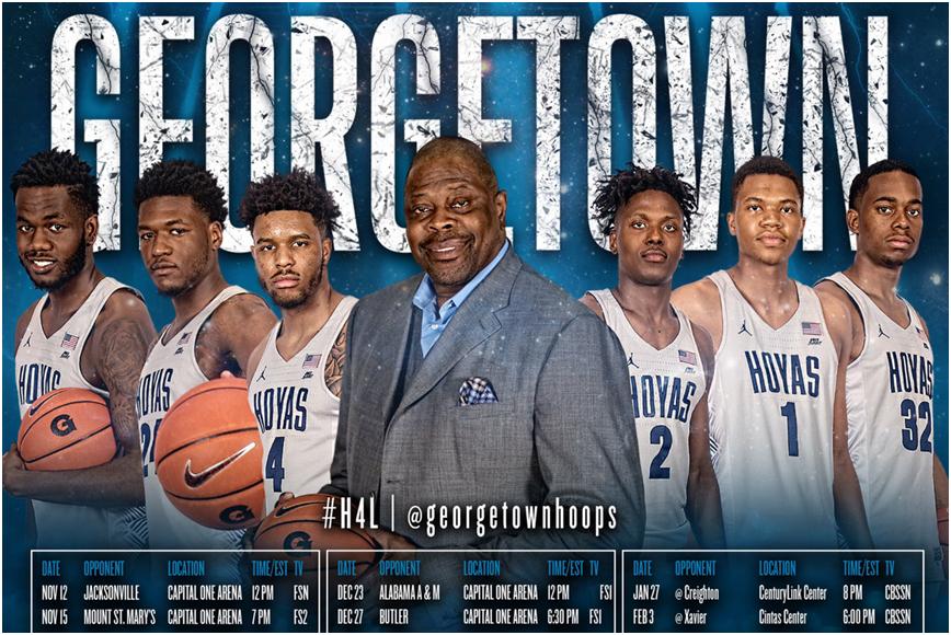 Georgetown Basketball Schedule